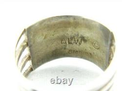 Vintage Sterling Silver Zuni Anson & Leticia Wallace Opal Band Ring 3.3g B20