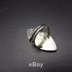 Vintage ZUNI Sterling Silver & Tightly Webbed Matrix TURQUOISE Inlay RING sz 5.5