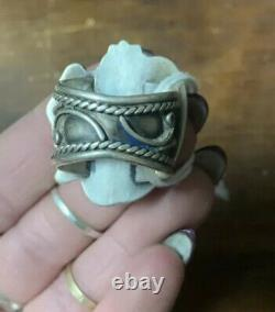 Vintage coral & silver ring! Old Pawn Jewelry Native American Indian Sz 10-10.5