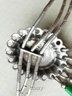 Vintage jewellery sterling silver Navajo beadwork native American necklace
